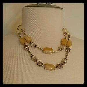 Gorgeous Vintage Beaded Double Strand Necklace